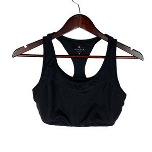 Athleta Black Racerback Sports Bra Size Medium